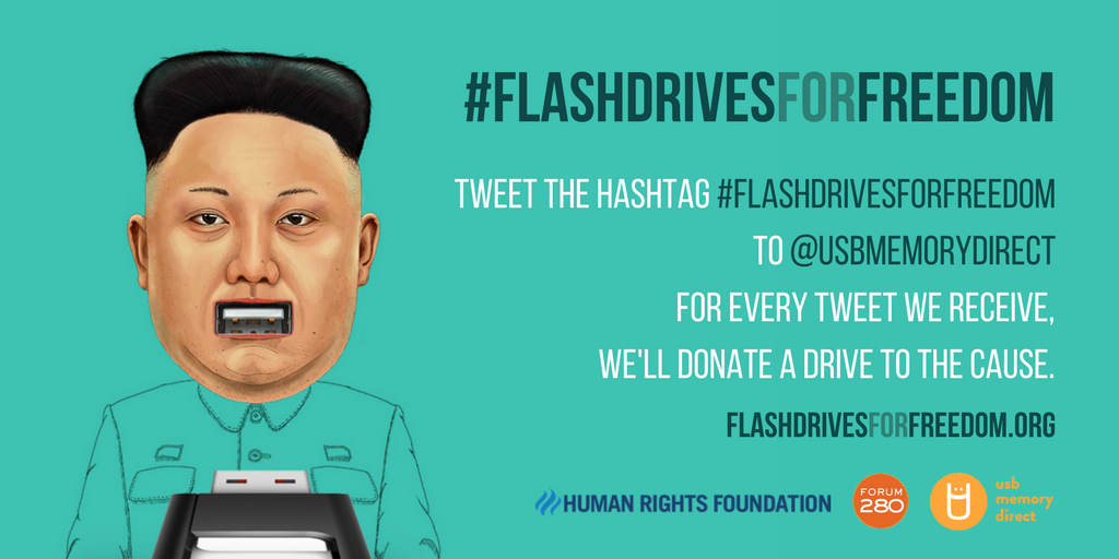 Flash Drives For Freedom Tweet